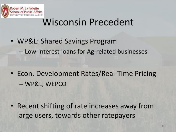 Wisconsin Precedent