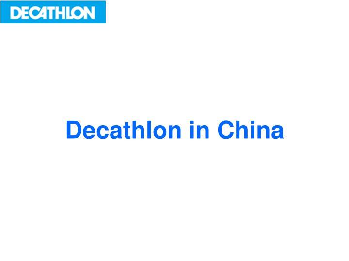 Decathlon in China
