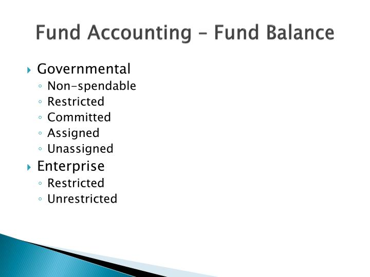 Fund Accounting – Fund Balance