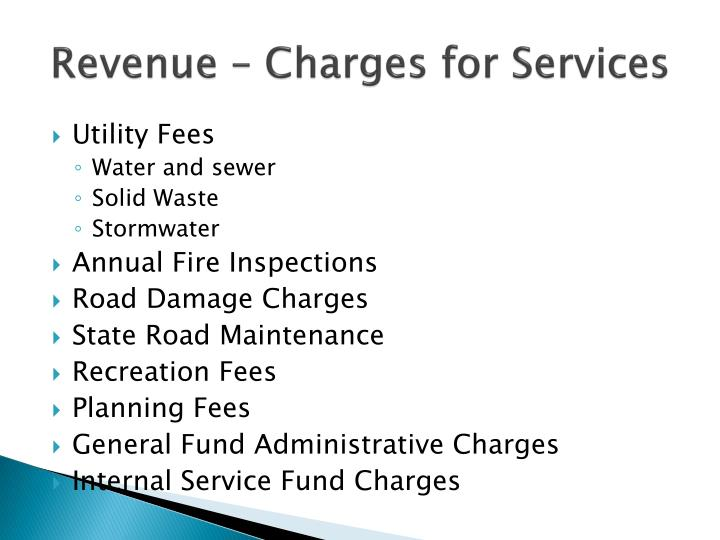 Revenue – Charges for Services