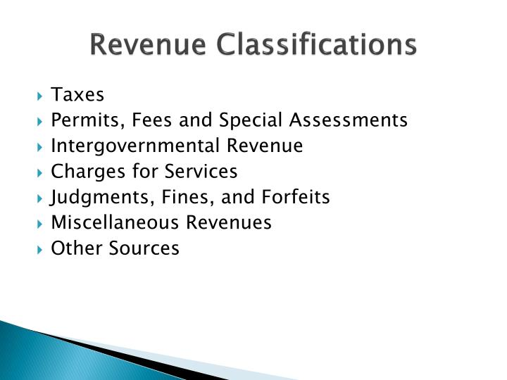 Revenue Classifications