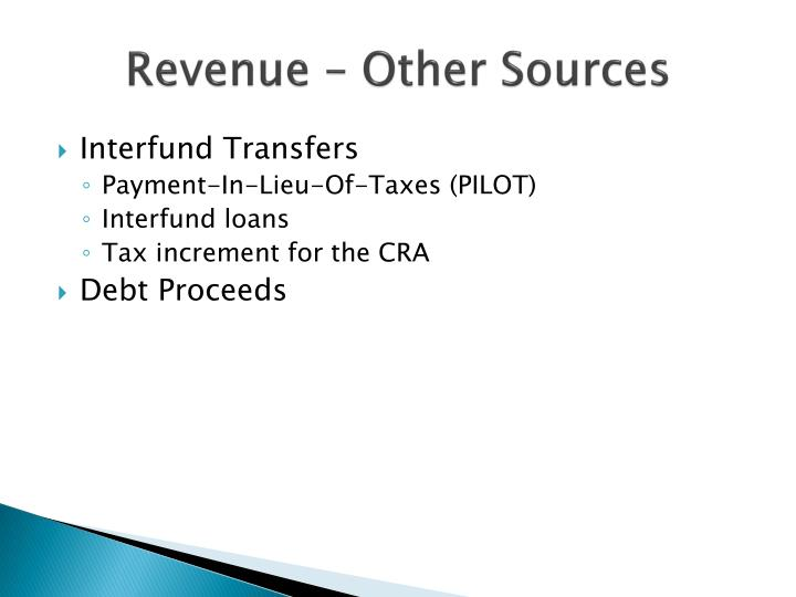 Revenue – Other Sources