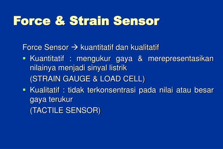 Force & Strain Sensor