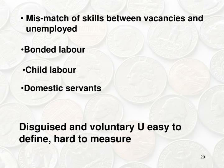 Mis-match of skills between vacancies and unemployed