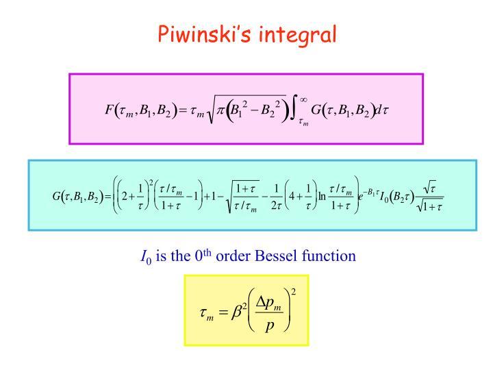 Piwinski's integral