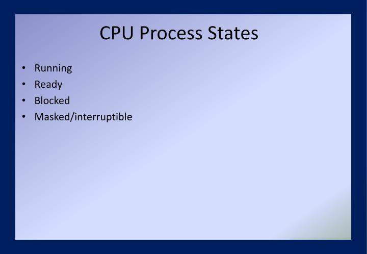 CPU Process States