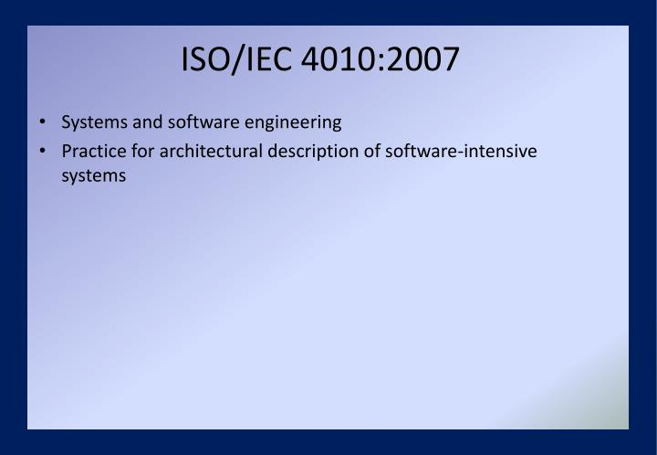 ISO/IEC 4010:2007