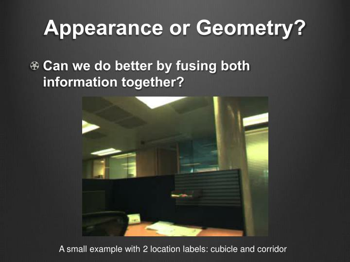 Appearance or Geometry?