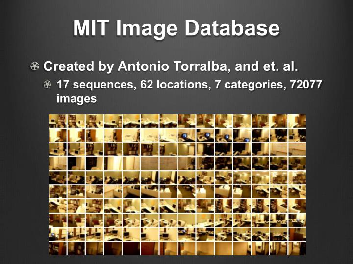 MIT Image Database