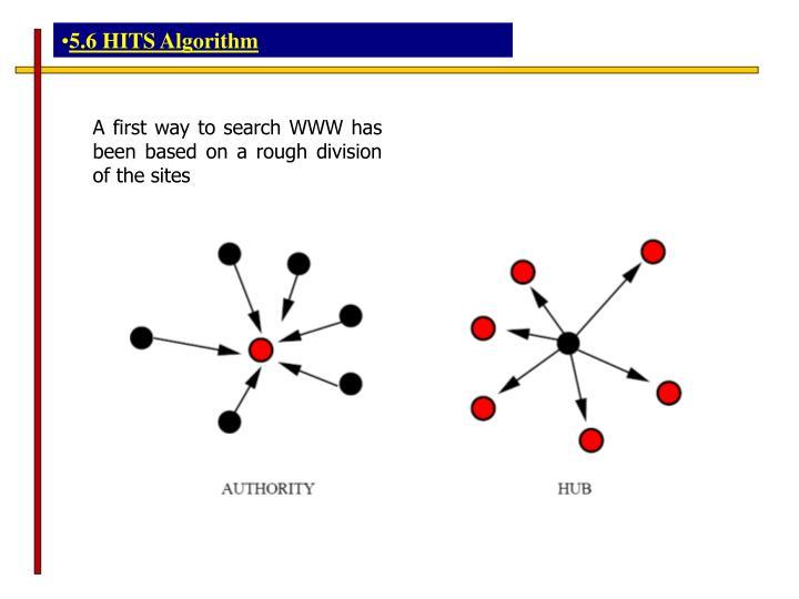 5.6 HITS Algorithm