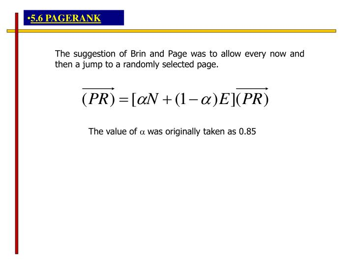 5.6 PAGERANK