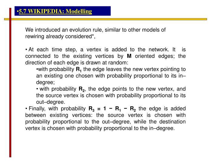 5.7 WIKIPEDIA: Modelling