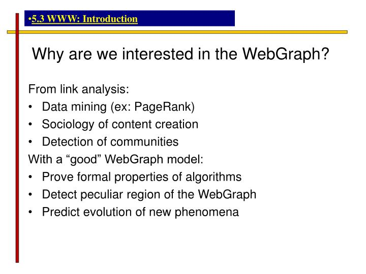 5.3 WWW: Introduction