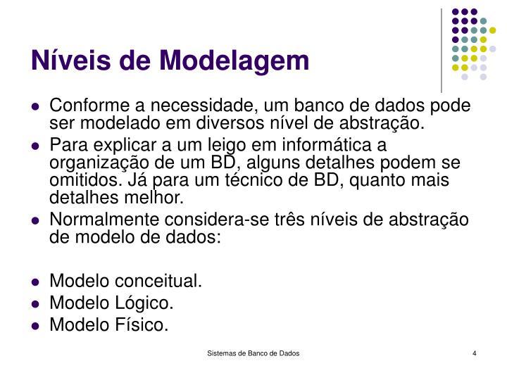 Níveis de Modelagem