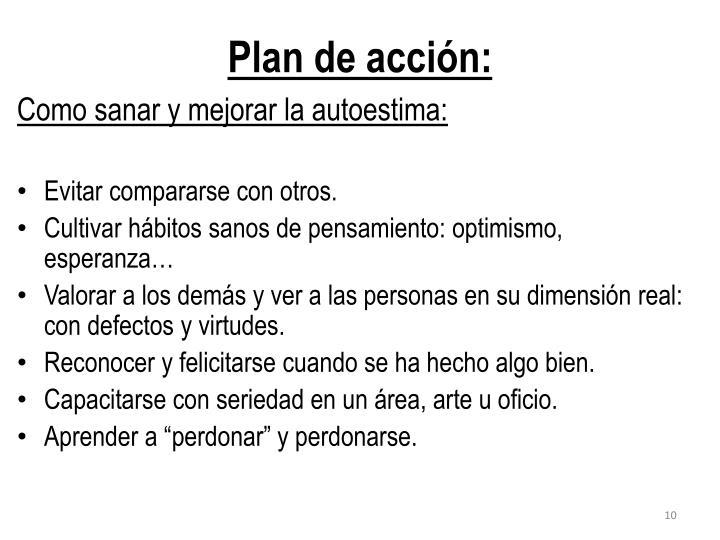 Plan de acción:
