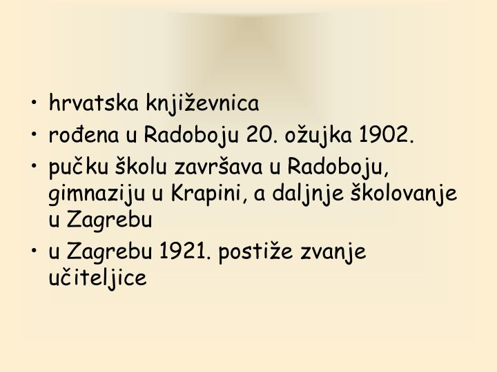 hrvatska književnica