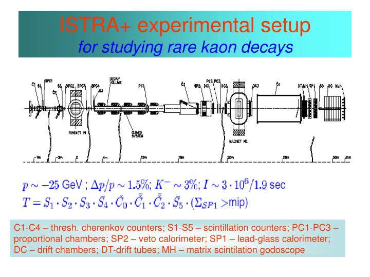 Istra experimental setup for studying rare kaon decays