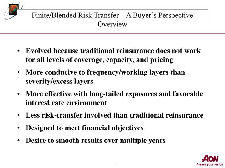 Finite blended risk transfer a buyer s perspective overview