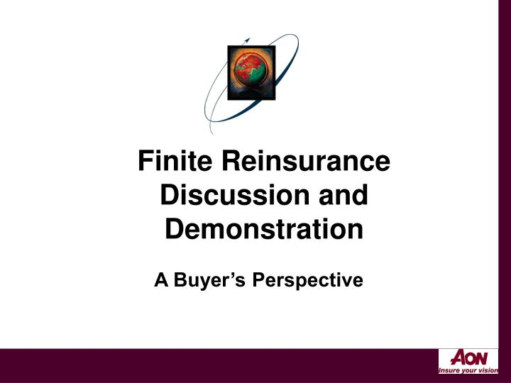 Finite Reinsurance