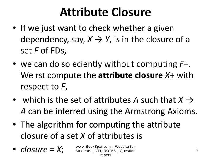 Attribute Closure
