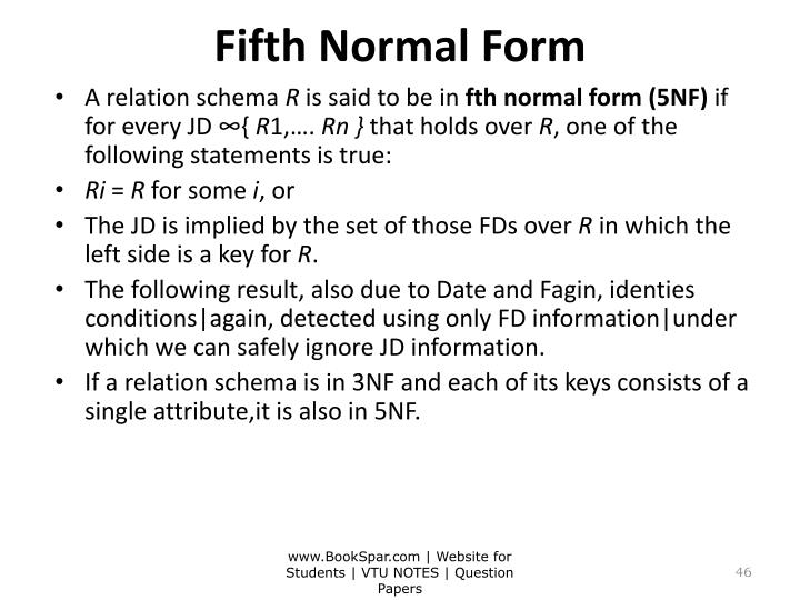 Fifth Normal Form