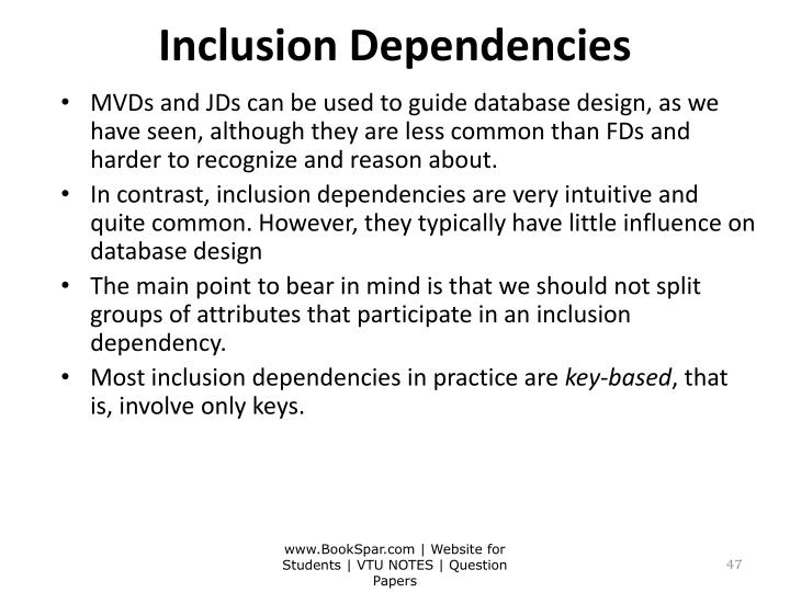 Inclusion Dependencies