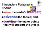 introductory paragraphs should