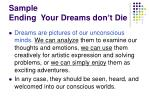 sample ending your dreams don t die