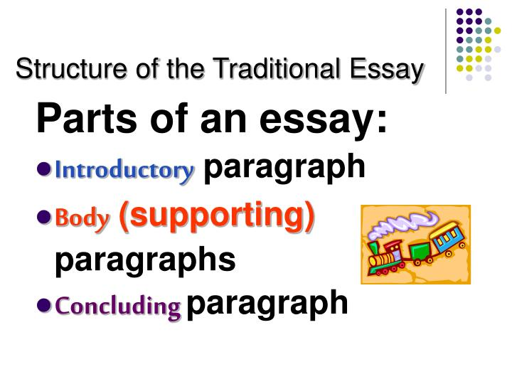 Structure of the Traditional Essay