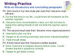 writing practice write an introductory and concluding paragraphs