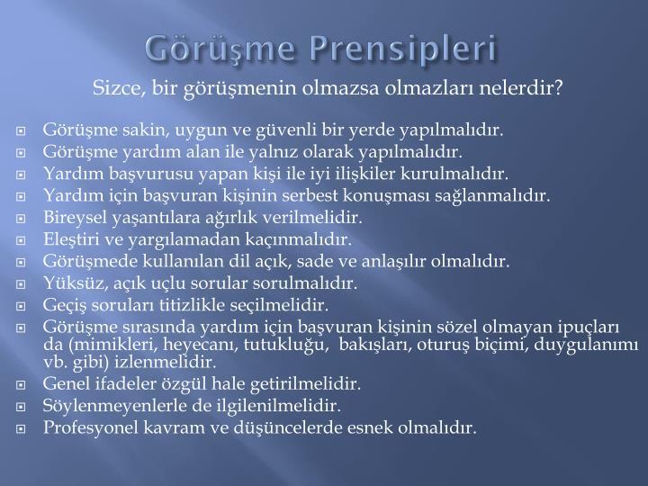 Grme Prensipleri