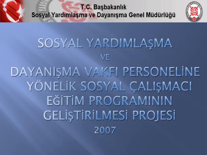 SOSYAL YARDIMLAMA