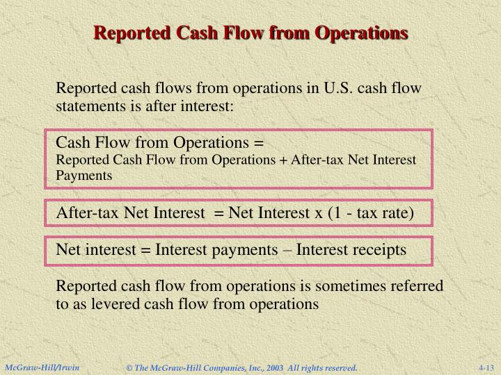 Reported Cash Flow from Operations
