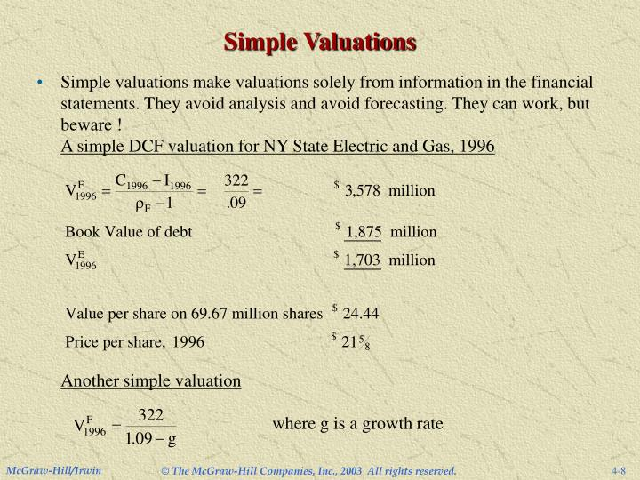 Simple Valuations