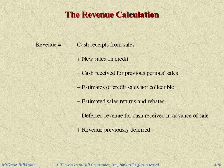 The Revenue Calculation