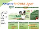 access to mydigital library