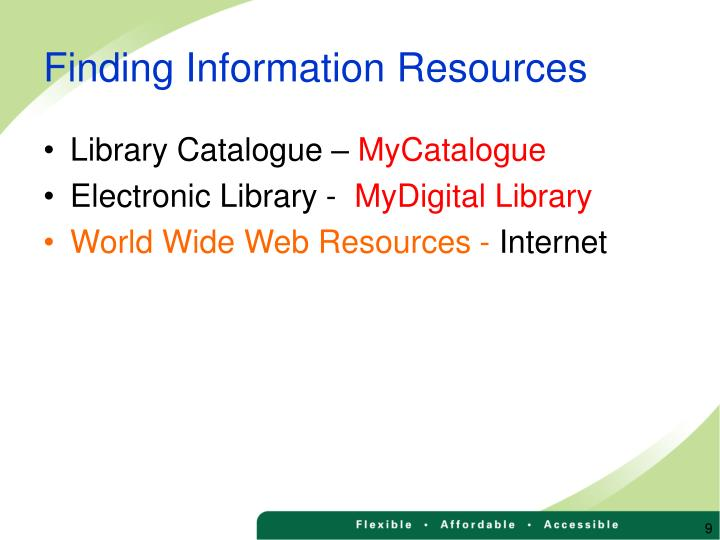 Finding Information Resources