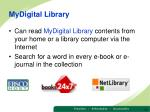 mydigital library