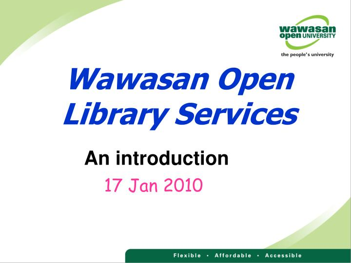wawasan open library services