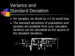 variance and standard deviation1