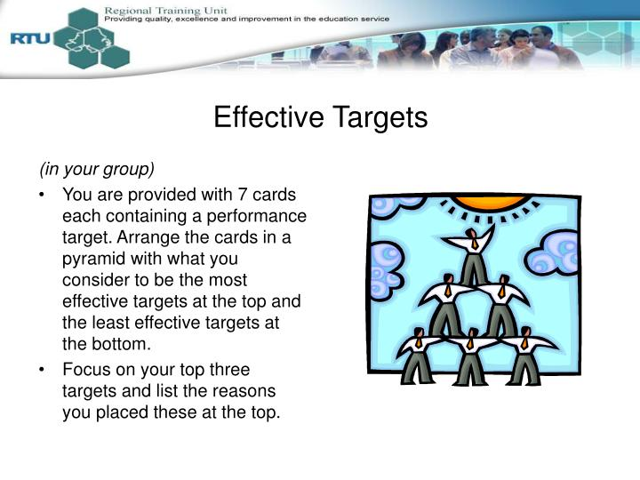 Effective Targets