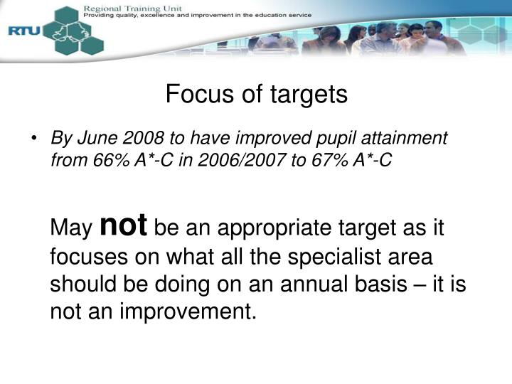 Focus of targets