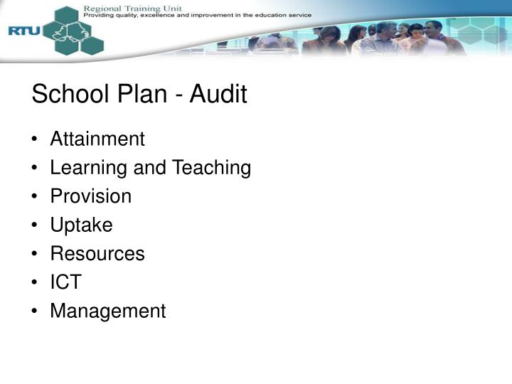 School Plan - Audit