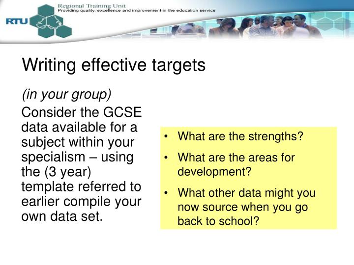 Writing effective targets