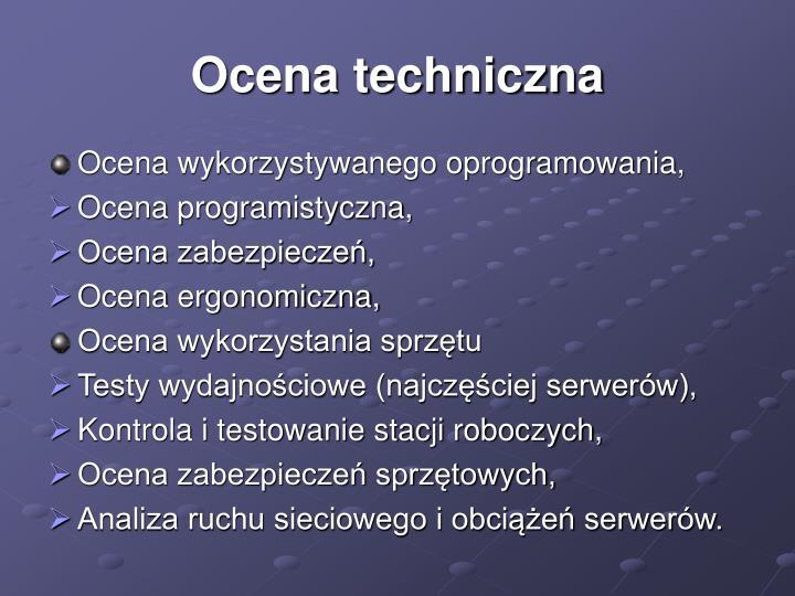 Ocena techniczna