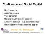 confidence and social capital