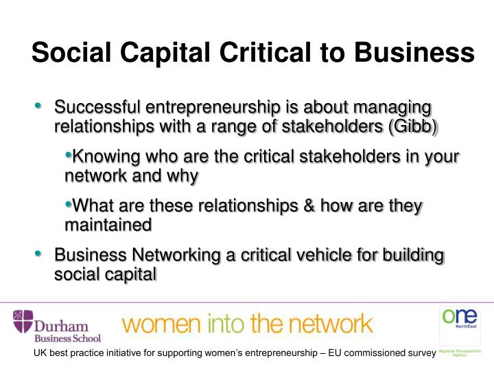 Social Capital Critical to Business