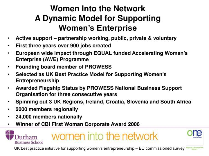 Women Into the Network
