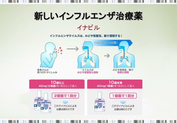 新しいインフルエンザ治療薬