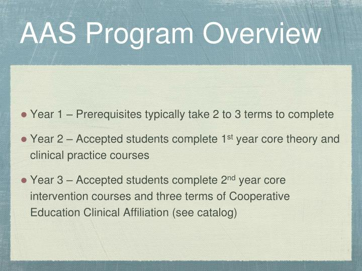 Aas program overview